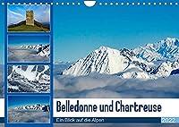 Belledone und Chartreuse, ein Blick auf die Alpen (Wandkalender 2022 DIN A4 quer): Winterbilder der Berge, zwischen Blau und Weiss (Monatskalender, 14 Seiten )