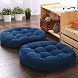 Juego de 2 Almohadas Redondas para el Suelo Cojín para sillas de Patio para Muebles de Exterior Cojín de Asiento 21'X21 Cojín de meditación para Yoga, Sala de Estar, sofá, balcón, marrón, marrón.5