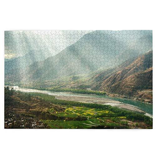 kThrones Rompecabezas de 1000 Piezas,Rompecabezas de imágenes,Famosa Curva del río Yangtze,Provincia de...