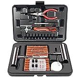 ORCISH 70Pcs Tire Repair Kit, Heavy Duty Tire Plug Kit Flat Tire Repair Kit Tire Patch Kits Puncture Repair Kit