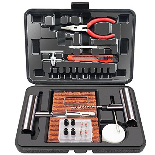 오크 70PCS 타이어 수리 키트 무거운 의무 타이어 플러그인 장비 타이어 수리 키트는 타이어 패치 키트 펑크 수리 키트