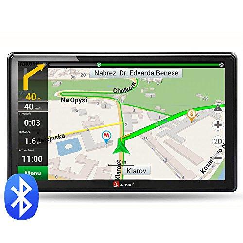 Junsun - Navegador GPS con pantalla HD de 7pulgadas, Windows CE 6.0, 8GB de memoria, actualización de mapas gratuita