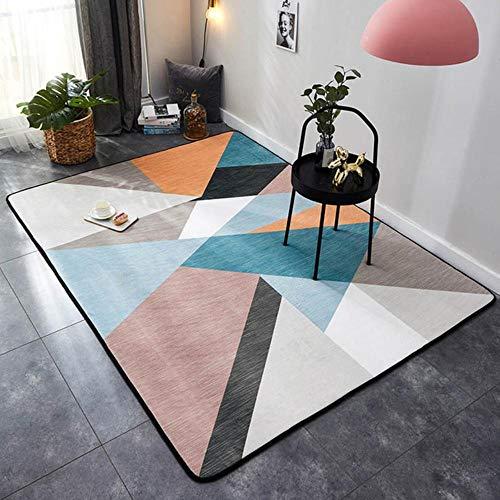 Rechthoek Tapijt Kristal Fluwelen Geometrische stijl Antislipdeken en tapijten voor thuis Woonkamer/slaapkamer/keukenmatten Alfombra 1PC, kleur 8,95x95cm 37,4x37,4in
