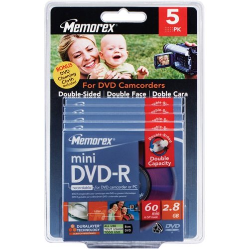 Memorex 4X Double-sided Write-once Mini DVD-R Blister Pack (Discontinued by Manufacturer)