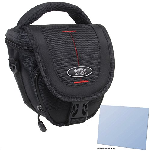 Zubehör Starterset für Panasonic Lumix DMC-FZ28 - Schicke Kamera Tasche / Colttasche + passgenaue equipster Folie