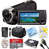 Sony HDR-CX440 Full HD 60p Camcorder Bundle with 32GB Memory Card, Camera Bag, HDMI Cable, and Accessories (8 Items)