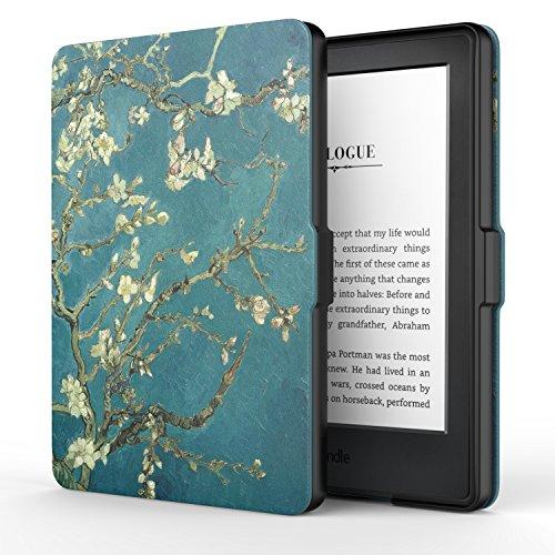 """MoKo Kindle 8ª Gen Case - Custodia Ultra Sottile Leggero per Nuovo E-reader Kindle, schermo touch da 6"""" anti riflesso (8ª Gen - modello 2016), Albicocchi in fiore (NON per Kindle Paperwhite)"""