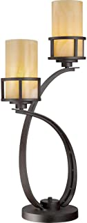 Quoizel KY6328IB Kyle Wrought Iron Table Lamp, 2 Light 200 Watts, Imperial Bronze (30
