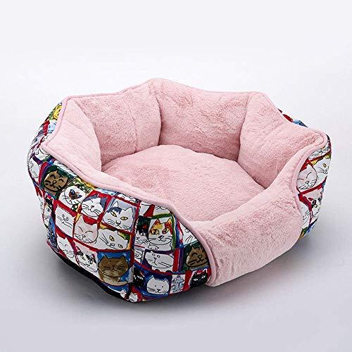 Preciosa Soft for Mascotas de la Perrera casa Caliente Oval del Amortiguador Cama del Gato Mat Sofá Lavable for Perros Grandes Tamaño del Perrito de Peluche Sofá S M, A, S (Color: B, Tamaño: Pequeño)