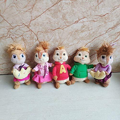 peluche 5pcs 15cm Alvin And The Chipmunks Peluche Alvin Simon Theodore Brittany Jeanette Film Bambola Di Peluche Giocattolo Per Bambini