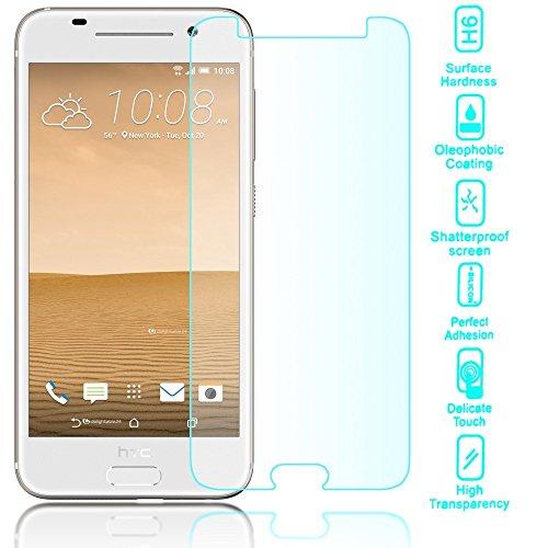 NALIA Schutzglas kompatibel mit HTC One A9, 9H Glas-Schutzfolie Display-Abdeckung Hüllen-Kompatibel, Handy-Folie Schutz-Film Glasfolie, Smart-Phone HD Screen Protector Tempered Glass - Transparent
