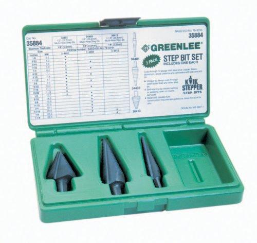 Greenlee 34403C 7//8-Inch #3 Durable High Speed Steel Cobalt Step Drill Bit