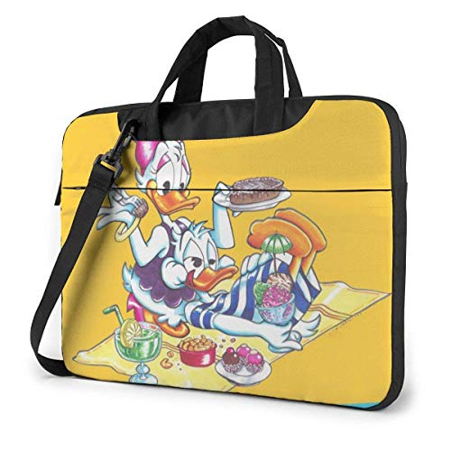 15.6 Inch Laptop Bag Donald and Daisy Duck Holiday Laptop Briefcase Shoulder Messenger Bag Case Sleeve