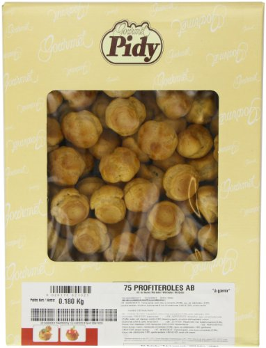 Pidy Round Profiterole Choux Pastry Golden Brown Colour 75 Pieces