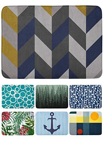 arteneur® rutschfeste Badmatte 50x80 – Antirutsch Badteppich mit Memoryschaum, Waschbar und Schnelltrocknend. Badvorleger Pfeile