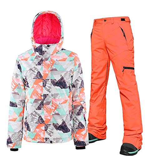 Unbekannt Dingziyue Frauen Skianzug windundurchlässiger wasserdichte warme Jacke Erwachsene Bergbekleidung Skijacke Hosenanzug (Color : 6, Size : L)