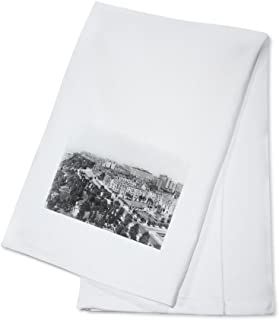 Bird's-Eye View of Riverside Drive NYC Photo (100% Cotton Kitchen Towel)