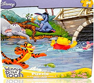 Disney Winnie The Pooh, Tigger, Piglet, Eeyore 24 Piece Puzzle Swimming by Cardinal Industries Inc. TOY