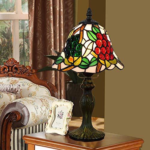 DALUXE Tiffany Style Lámpara de Mesa UVA Creatividad Vidrio Antiguo Vintage luz decoración Querida de la cabecera Regalo de la Sala de Estar