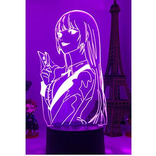 3D-Nachtlicht, Anime-Lampe, Yumeko Jabami von Kakegurui, Gambler, Geschenk für Schlafzimmer, Dekoration, Nachtlicht, niedliche japanische Figuren, Spielzeug