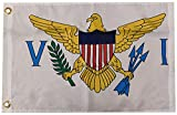 """Trade Winds US Virgin Islands 100D Woven Poly Nylon 12x18 12""""x18"""" Premium Quality Heavy Duty Fade Resistant Flag Grommets"""