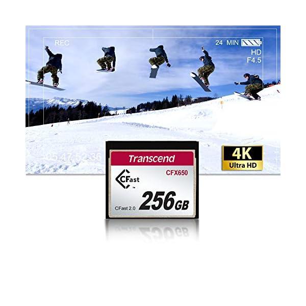 Transcend CFast 2.0 CFX650 - Tarjeta de Memoria Compact Flash de 128 GB (Turbo Flash MLC, 510 MB/s) Blanco