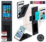 Hülle für Samsung ATIV S Neo Tasche Cover Hülle Bumper | Schwarz Leder | Testsieger
