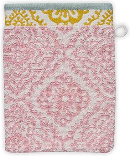 Pip Studio Jacquard Check - Toalla de ducha (70 x 140 cm), diseño de cuadros, color rosa