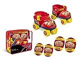 Mondo Toys -  pattini a rotelle regolabili Cars disney per bambini - Taglia dal 22 al 29 - set completo di borsa trasparente, gomitiere e ginocchiere - 28105