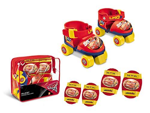 Mondo 28105 Disney Cars Rollschuhe mit Schutzausrüstung