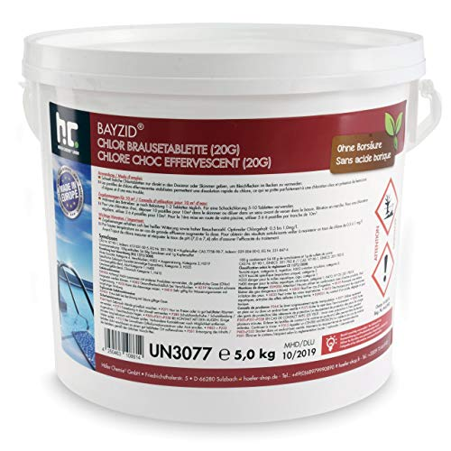 Höfer Chemie 5 kg BAYZID Comprimés effervescents de chlore 20 g chlore choc. Convient aux piscines...