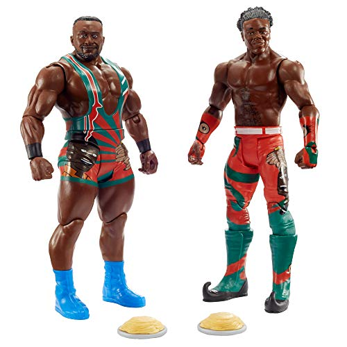 WWE New Day: Big E vs Xavier Woods Battle Pack Series #63 with Two 6-inch Articulated Action Figures & Ring Gear