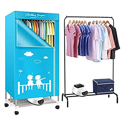 InLoveArts 1300W Automatic Dryer Heater 33LB Large Capacity Household Clothes Dryer with Remote Control Electric Folding Dryer Clothes Energy-Efficient Clothes Dryer
