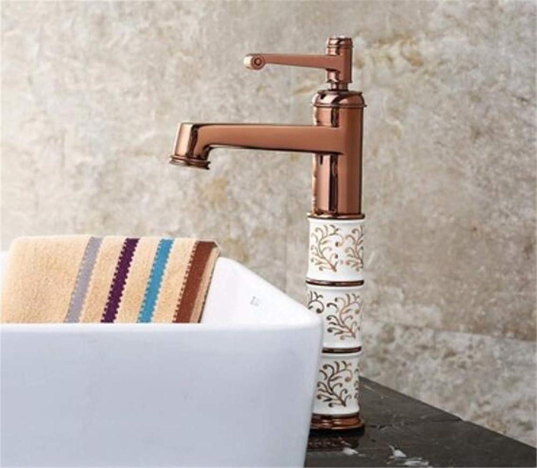 Oudan The Double Bronze Copper Basin Mixer Full Hole Basin Faucet Mixing Valve Antique Sitting Platform Basin (color   -, Size   -)