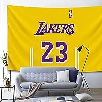 レブロンバスケットボールウォールタペストリー2シームレスな爪、小さなクリップ背景布の寝室の部屋ベッドサイド装飾タペストリー yellow 5