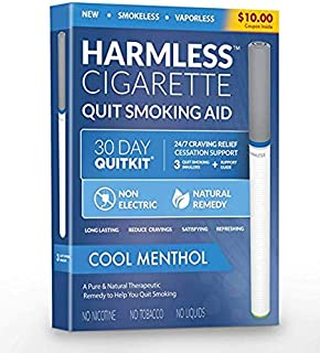 Stop Smoking Aid Oxygen Inhaler with Turbo-Flow Natural Quit Smoking Remedy a Smoke-Free Fake-Cigarette to Reduce Cravings and Overcome The urge to Smoke (Cool Menthol, 3 Pack/Full Quit Kit)