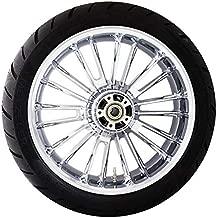 Coastal Moto METATL185CH-ABS Precision Cast Atlantic 3D Rear Wheel with Tire - 18x5.5 - Chrome