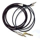 KetDirect Ersatzkabel für Hifiman HE400S / HE-400I / HE560 / HE-350 / HE1000 / HE1000 V2Kopfhörer 3,5mm Stecker & 6,35mm Adapter auf 2x 2,5mm Klinkenstecker, Audio, HiFi, Schwarz, 2m