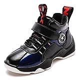 HSNA Zapatillas de Niños Fur Forro Zapatos con Cierre de Velcro Niños Trainers(1812 Azul 35 EU)