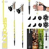 MSPORTS Nordic Walking Stöcke Premium White - hochwertige Qualität - Superleicht - auswählbar mit...