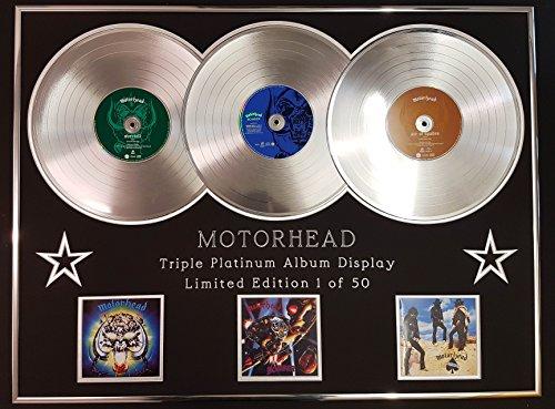 Motorhead/Dreifach-Platin Album Anzeigen/Limitierte Edition/Overkill + Bomber + Ace of Spades/COA