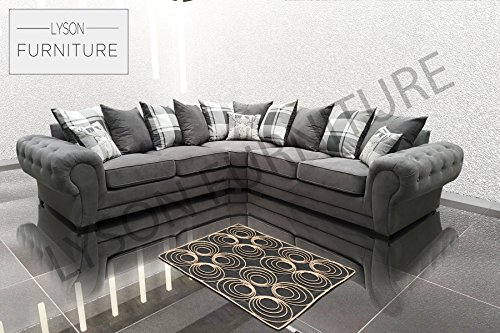 Lyson Furniture Verona–Esquina sofá–Tela
