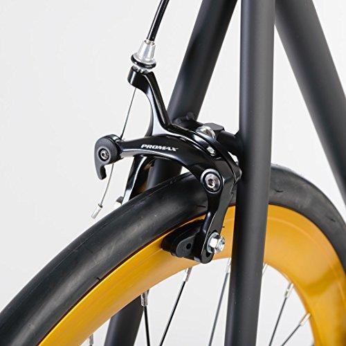 bonvelo Singlespeed Fixie Fahrrad Blizz Heart of Gold (XL / 59cm für Körpergrößen ab 181cm) - 3