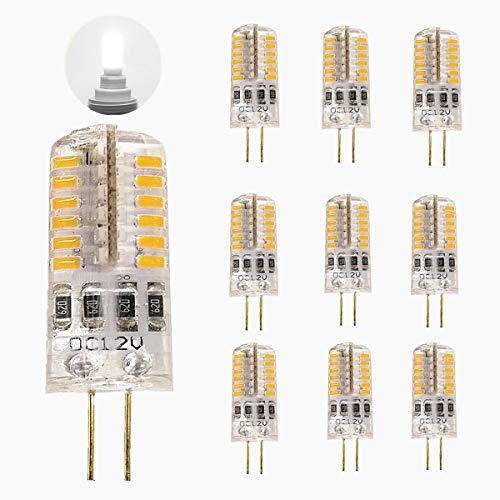 TOSHIN 10er G4 LED Lampe Birne, 3W LED Leuchtmittel (Ersatz für 35W Halogenlampen), DC 12V, 250 LM, 48x 3014 SMD, 360° Abstrahlwinkel, Nicht Dimmbar, 6000K Kaltweiß