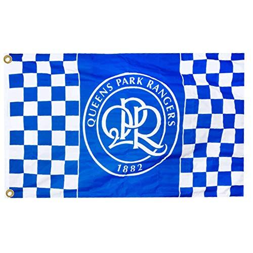 QPR Giant Official Queens Park Rangers Crest Flag (100% Polyester & Measures 5ft x 3ft)