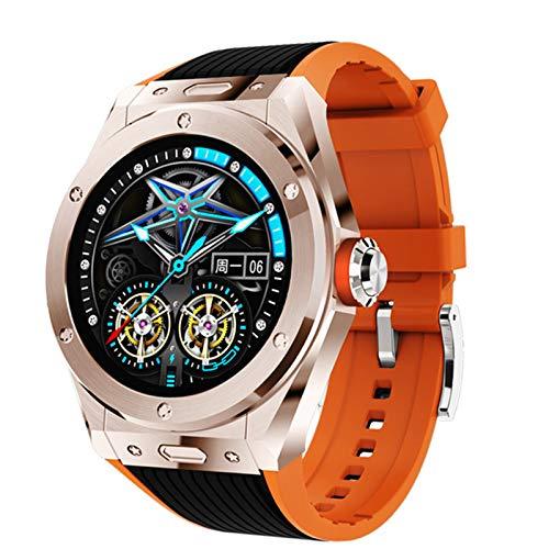 2021 New Smart Watch MV58 Men's Luxury Watch Smart Watch Bluetooth Call Hombre Ratio Cardíaco Presión Arterial Deportes Smart Watch Men para Android iOS,C