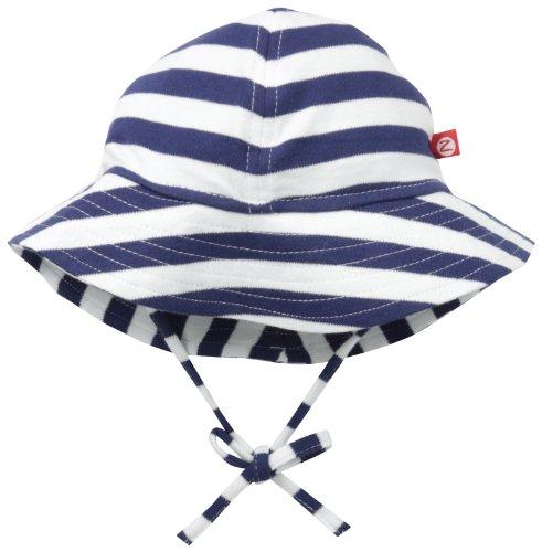 Zutano Unisex Baby UPF 30+ Sun Protection Hat,  Navy/White Nautical Stripe,  6 Months