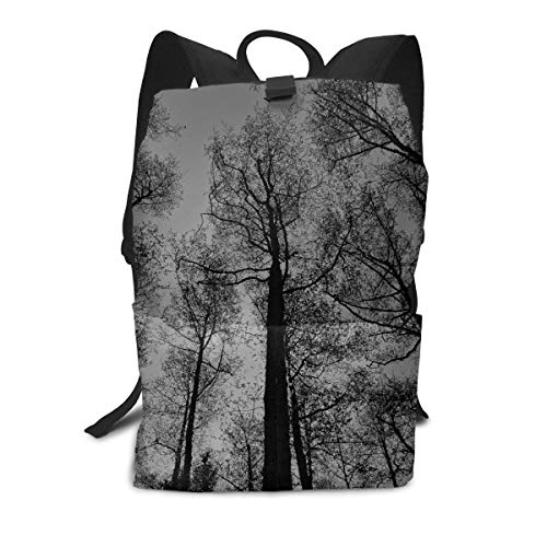 Homebe Mochila Unisex, Tree In Black and White Travel Business Slim Durable Laptops School Backpack Bookbag For College Travel Hiking Fit Laptop