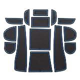 Hcxh-A Pastilla de tragamonedas de la Puerta para Subaru Forester 2013-2018 Almohadillas Interiores de la Puerta/Taza de la Taza de Las esteras Antideslizantes (Color : Forester Blue)