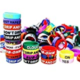 40PCS Silicone Rubber Vape Bands-CENGLORY Anti Slip Vape Decorative Rings Bands for RBA RDA Tank Mechanical Mod-Diameter 22mm